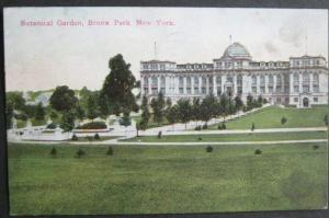 Botanical Garden Bronx Park NYC NY 1912 Success Post Card Co 1127