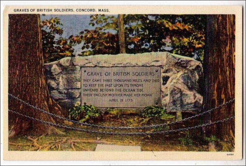 Graves of British Soldiers, Concord MA
