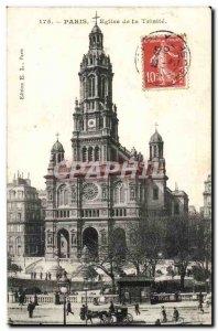 Old Postcard Paris Church of the Trinity