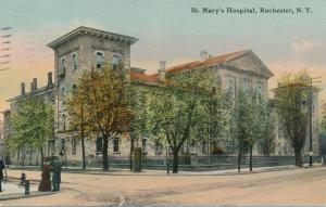 Street View of St Mary's Hospital - Rochester, New York - pm 1911 - DB