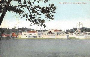 The White City, Worcester, Massachusetts Amusement Park c1910s Vintage Postcard