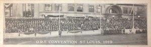 O.R.T. CONVENTION St. Louis, 1919 Antique Vintage Double Postcard