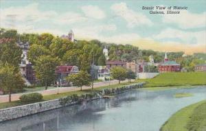 Illinois Galena Scenic View Of Historic 1957
