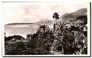 Old Postcard Menton View from the Italian border