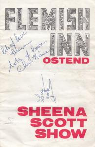 Sheena Scott Belgium Musical Star Singer Vintage Hand Signed Theatre Programme