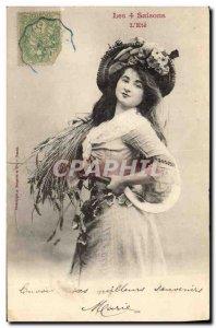 Old Postcard Fantaisie 4 seasons L & # 39ete