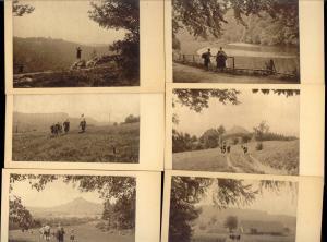 6x Liechtenstein Germany, Walking in Schwabenalb, Wandergruppe (1930s) Postcards