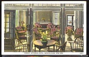Lounge Interior Jefferson Hotel Watkins Glen New York