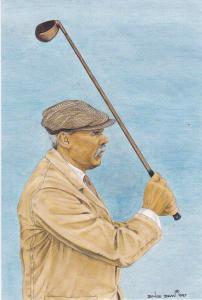 print of golfer James Braid winner of the 50th Open Championship