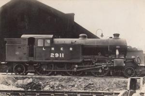LNER 2911 Engine Train Vintage Railway Real Photo Postcard