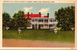 Massachusetts Springfield Forest Park Pecousic Villa Home Of Everett H Barney