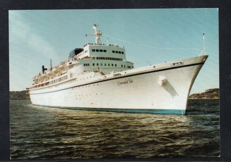 Ship Enchanted Isle Commodore Cruise Lines at Bergen 1993  unused