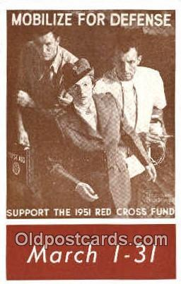 Mobilize for Defense Support the 1951 Red Cross Fund,  Postcard Postcards  mo...
