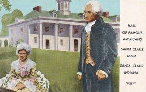 Indian Santa Claus George and Martha Washington Hall Of Famous Americans Sant...