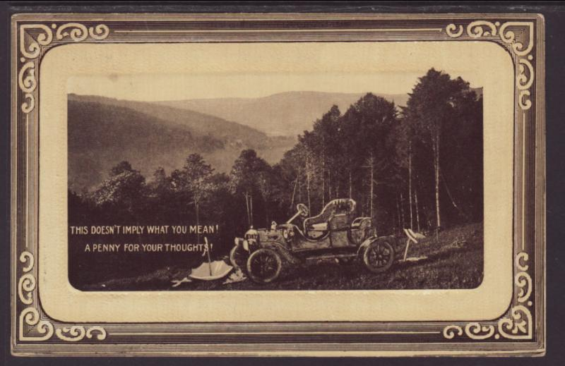 This Doesn't Imply What You Mean,Automobile Postcard