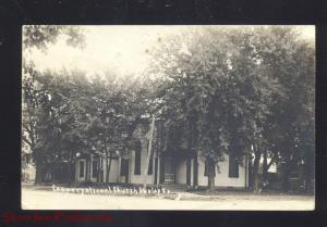 RPPC DUNLAP IOWA CONGREGATIONAL CHURCH VINTAGE REAL PHOTO POSTCARD 1929
