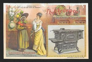 VICTORIAN TRADE CARD Spicer's & Peckman Redwood Range