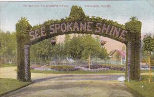 Washington Spokane Entrance To Monito Park