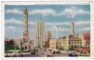 Chicago, Water Tower And Palmolive Bldg., Upper Michigan Ave.