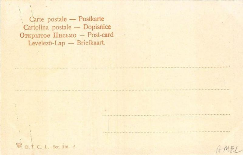 Different German Fraternities Regulated Sword Fight Postcard