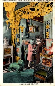 California San Francisco Chinatown Interior Of A Chinese Store 1932