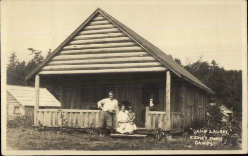 Kidney Pond Camps ME Camp Lauroy Millinocket Area c1920 Real Photo Postcard