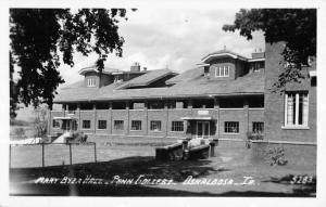 Oskaloosa Iowa Penn College Byer House Real Photo Antique Postcard K104045