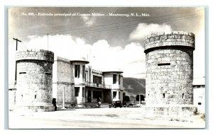 Postcard Entrada Principal al Campo Militar, Monterrey NL Mexico RPPC Y62