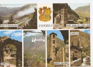 Postal 035535 : Valls dAndorra. Diferents aspectes