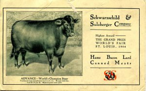 Advertising Blotter- Schwarzschild & Sulzberger Co, 1904-1905    (6 X 3.75)...