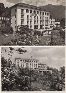 Alberto Ascona Ticino Hotel Switzerland 2x Real Photo Postcard