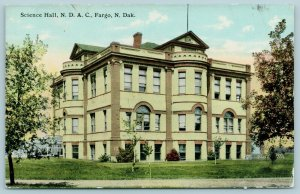 Fargo North Dakota Agricultural College~Bay & Arch Windows on Science Hall c1910