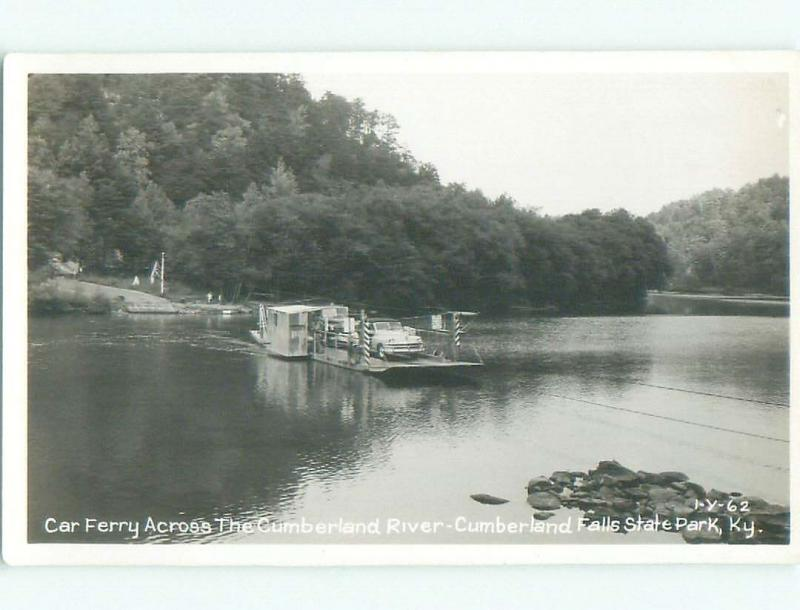 old rppc CAR FERRY BOAT Cumberland Falls State Park - Corbin Kentucky KY i6521