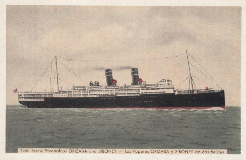 Steamships ORIZABA & SIBONEY , 1930s