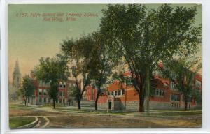 High School Training School Red Wing Minnesota 1913 postcard