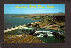 ID American Falls Dam Idaho Postcard