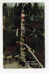 Mint Real Picture Postcard Native American Indian BC Canada Totem Pole
