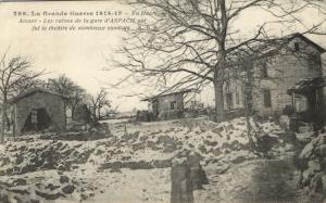 CPA Le Grande  Guerre 1914-1915 En Haute Alsace -Les ruines de la . .  (170454)