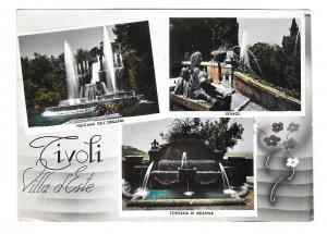 Italy Tivoli Villa D'Este Gardens Fountains Alterocca Multiview Postcard 4X6