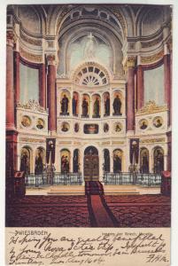 P373 JL 1904 postcard germany wiesbaden inneres der griech kapelle