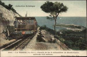 La Turbie Chemin de fer a Cremaillere de Monte Carlo TRAIN CAR TROLLEY PC