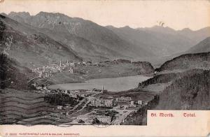 St Mortiz Switzerland Scenic View Antique Postcard J46833