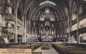 Interior View, Notre Dame Church, The Nave, Montreal, Quebec, Canada, 00-10´s