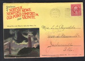 Norfolk,Newport News,Old Point Comfort,VA Souvenir Folder