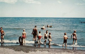 Swimming at Camp Lambec , North Springfield , Pennsylvania , 1950-60s