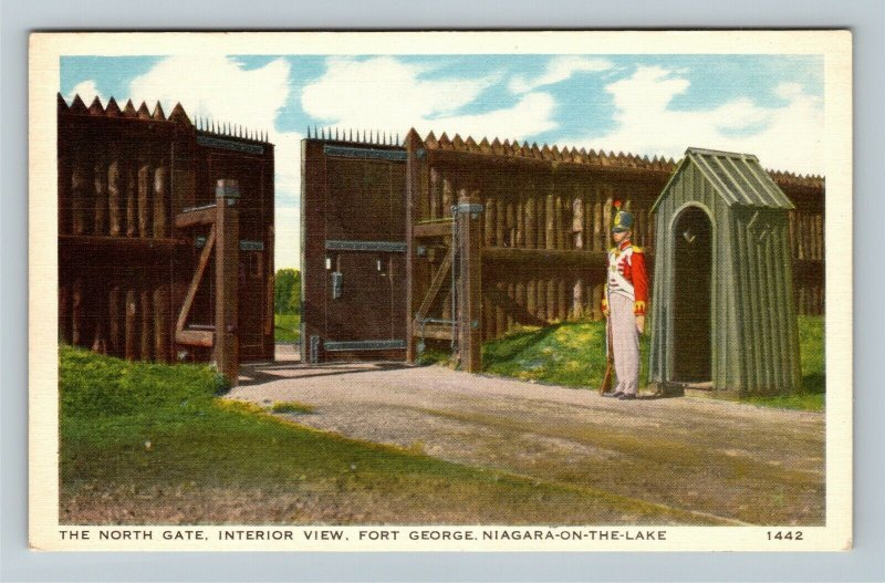 Niagara-On-The-Lake, Ont.-Canada North Gate Fort George Soldier Vintage Postcard