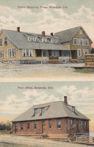 BRAESIDE, Ontario, Canada, PU-1909; Public Stopping Place and Post Office Views
