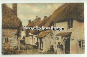tp9527 - Cornwall - Ladies at their Cottage Doors, at Hope Village - Postcard