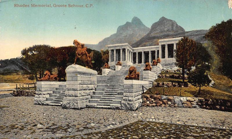 South Africa Rhodes Memorial Groote Schuur postcard