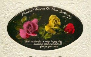 Postcard Greetings flowers birthday